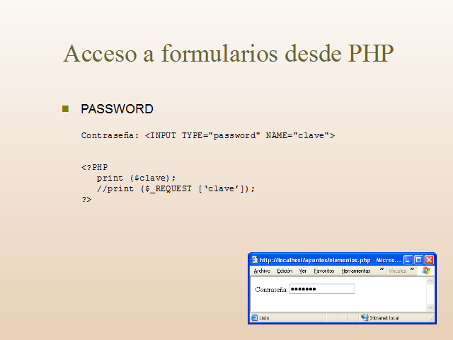 Que significa en ingles input password