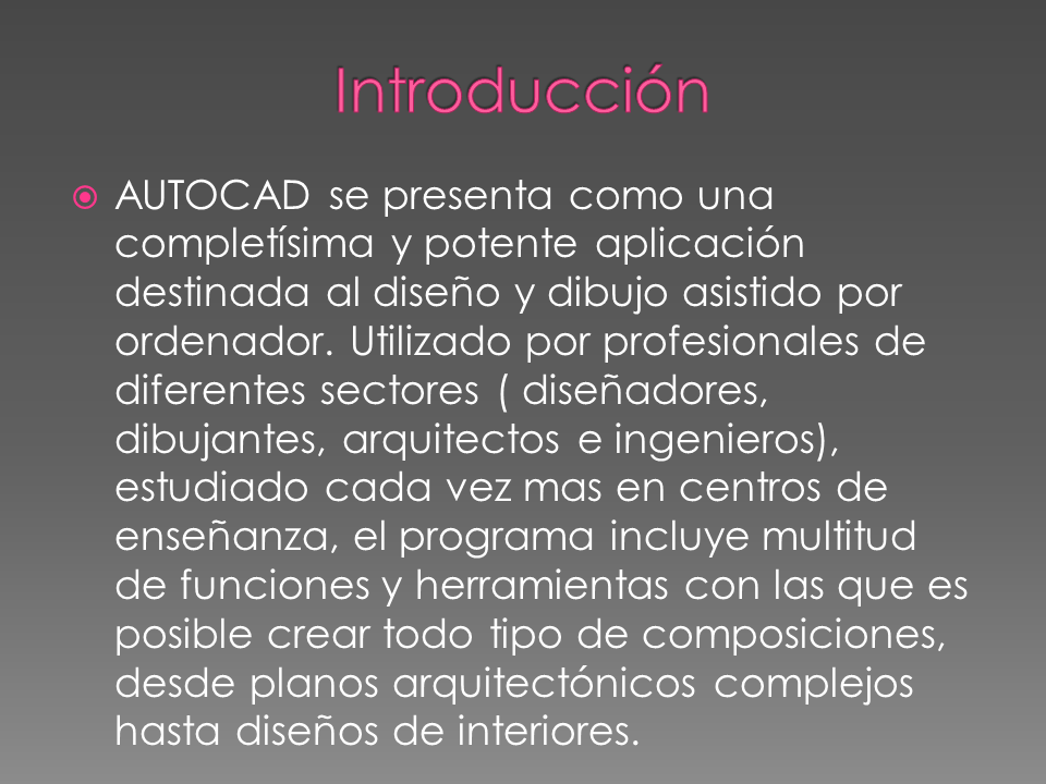 Introducci n a autocad for Software decoracion interiores 3d gratis