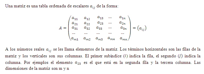 Matrices y Determinantes en forma manual y con Excel - Monografias.com